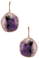 Meira T 14K Rose Gold, Chariote & 1.03 Total Ct. Diamond Drop Earrings