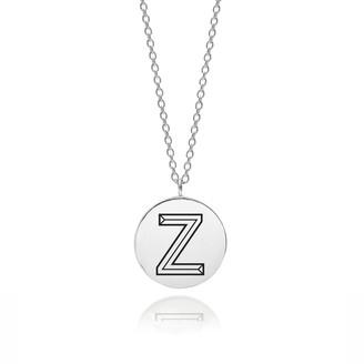 Myia Bonner Sterling Silver Facett Initial Z Pendant