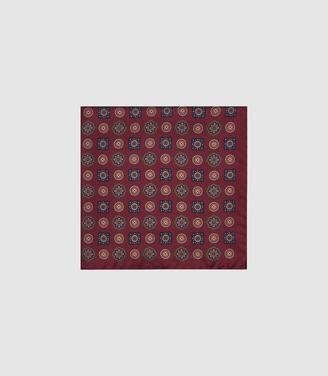 Reiss Kruis - Silk Medallion Pocket Square in Bordeaux