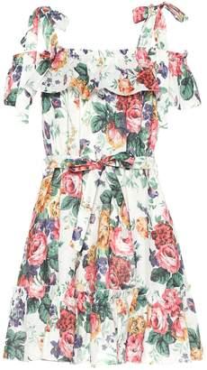 Zimmermann Allia floral linen minidress