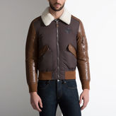 Bally Leather & Nylon Jacket With Shearling Collar