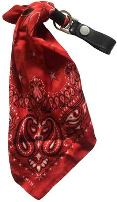 Amiri \N Red Silk Small bags, wallets & cases