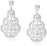 Nina Rennie Glamorous Decorative Pear-Shape Pendant Drop Earrings