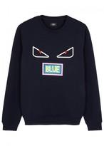 Fendi Eyes-appliquéd Wool Blend Sweatshirt