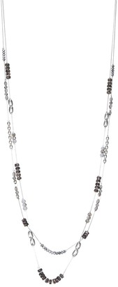 Sonoma Goods For Life Two-Row Silver Tone Multi-Color Beaded Long Illusion Necklace