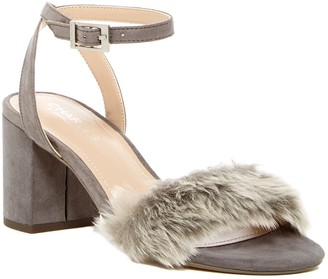 Charles by Charles David Kandy Faux Fur Block Heel Sandal
