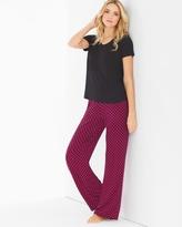 Soma Intimates Short Sleeve Pajama Set Jingle Plaid Black