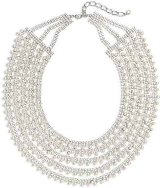 CRISTABELLE Crystal & Imitation Pearl Multistrand Collar Necklace