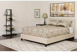 Ainsley King Upholstered Platform Bed with Mattress Winston Porter