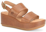 Børn Silay Leather Wedge Sandals