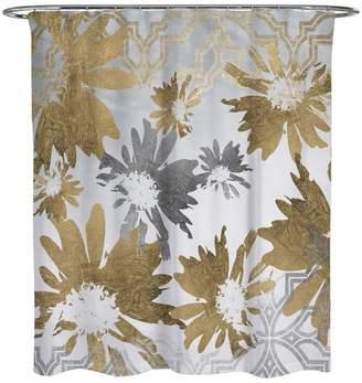 """Oliver Gal Golden Garden"""" Shower Curtain, 71""""x74"""""""
