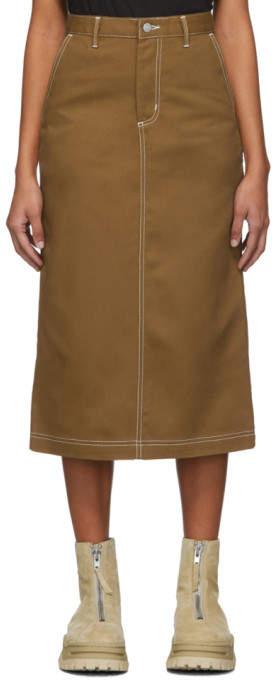 Carhartt Work In Progress Brown Denim Pierce Skirt