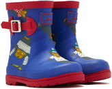 Joules Blue & Red Short Buckle Rain Boot - Boys