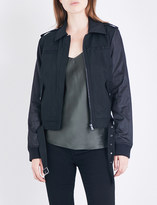 Paige Sheryl twill and shell bomber jacket