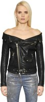 Faith Connexion Off The Shoulder Leather Sailor Jacket