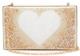 Germanier - Degrade-crystal Heart-print Clutch Bag - Womens - Gold Multi