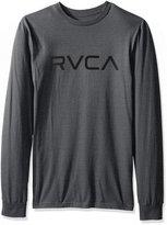 RVCA Men's Big Long Sleeve Tee, Grey Noise, M