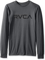 RVCA Men's Big Long Sleeve Tee, Grey Noise, XL