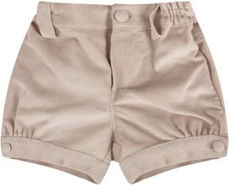 Fendi Beige Short With Logo For Baby Boy