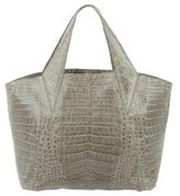 Nancy Gonzalez Metallic Crocodile Satchel