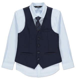 George Navy Waistcoat, Shirt and Tie 3 Piece Set