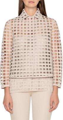 Akris Fae Grid-Lace Jacket