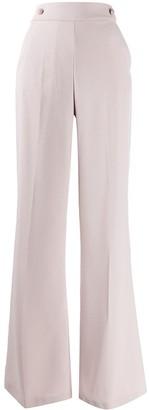 Pinko Button-Waist Flared Trousers