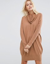 Asos Lounge Sweater Dress with Oversized Cowl Neck