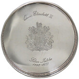 One Kings Lane Vintage Queen Elizabeth II Jubilee Wine Coaster - THE QUEENS LANDING - silver