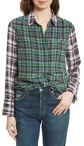 Equipment Women's Holly Colorblock Plaid Silk Shirt