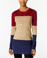 Energie Juniors' Brandi Shine Colorblocked Tunic Sweater