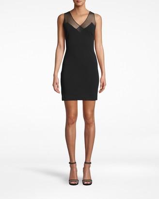 Nicole Miller Structured Heavy Jersey Ruched V-back Dress