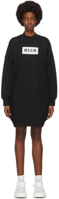 MSGM Black Shirt Short Dress