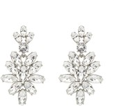 Oscar de la Renta Swarovski Navette Drop Earrings