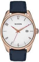 Nixon Women's Bullet A4732160 Rose Gold Leather Quartz Watch