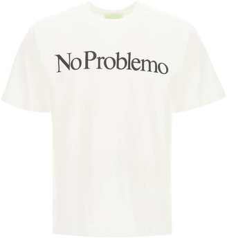 Aries NO PROBLEMO PRINT T-SHIRT L White, Black Cotton