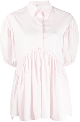 Cecilie Bahnsen Ellie puffed-sleeve cotton blouse