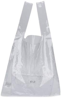 Maison Margiela transparent numbers shopping tote