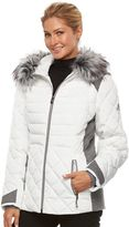 ZeroXposur Women's Sabrina Hooded Mixed-Media Puffer Jacket
