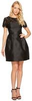 Jessica Simpson Solid Party Dress with Neck Trim JS7A9450 Women's Dress