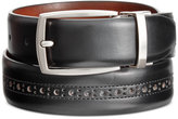 Tasso Elba Men's Brogue Reversible Dress Belt, Only at Macy's
