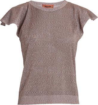 Missoni Ruffled Short Sleeve Knit Top