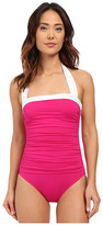Lauren Ralph Lauren Bel Aire Shirred Bandeau Mio Slimming Fit w/ Soft Cup