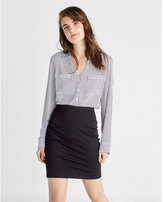 Express high waisted zip back split pencil skirt