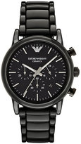 Emporio Armani Men's Ion Plated Black Bracelet Watch
