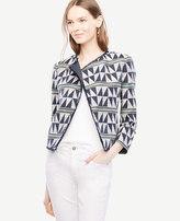 Ann Taylor Triangle Stripe Jacquard Jacket