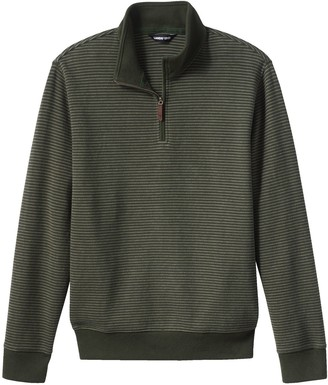 Lands' End Big & Tall Tailored-Fit Bedford Rib Quarter-Zip Sweater