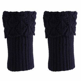 ZSDN 1 Pair Boots Accessories Women Winter Short Leg Warmers Crochet Knit Boot Socks Toppers Cuffs For Women Girls