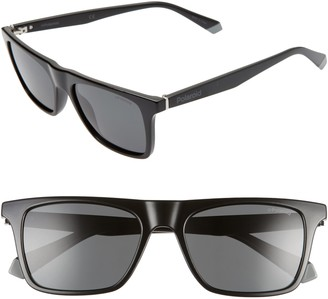 Polaroid 53mm Polarized Flat Top Sunglasses