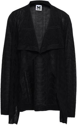 M Missoni Draped Wool-blend Jacquard Cardigan